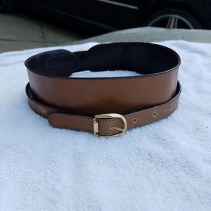 Italian Calf Leather Women's Double Loop Belt